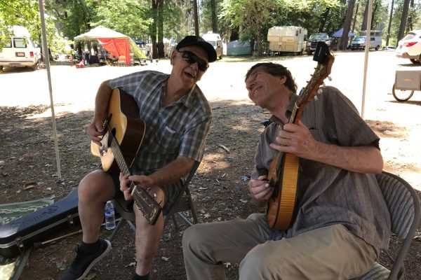 Arnie Gamble and Bob at the CBA festival in Grass Valley