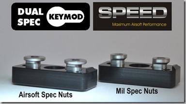 SPEED KeyMod Dual Spec Nuts