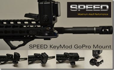 SPEED GoPro KeyMod Mount Flyer