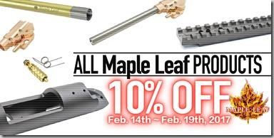 Maple Leaf sale