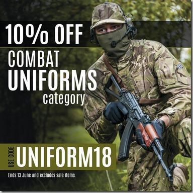 Combat Uniforms Sale 2018 Instagram