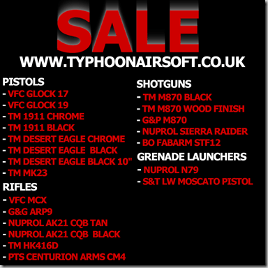 typhoon sale pistols & rifles