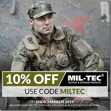 Mil-Tec Sale 2019 Instagram