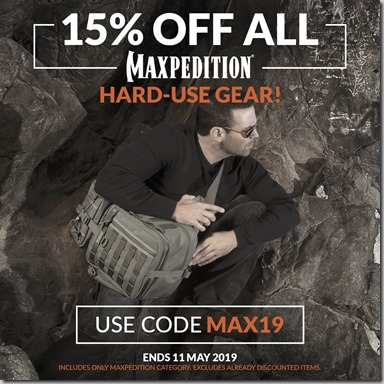 Maxpedition Sale 2019 Instagram