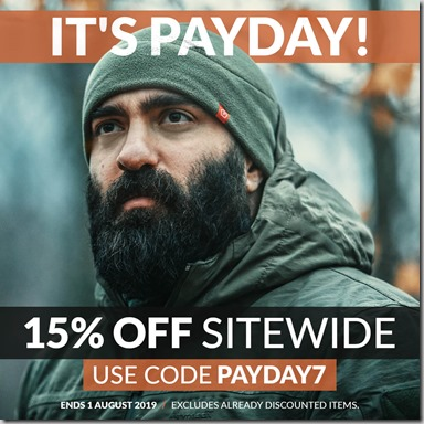 Payday Sale July 2019 Instagram