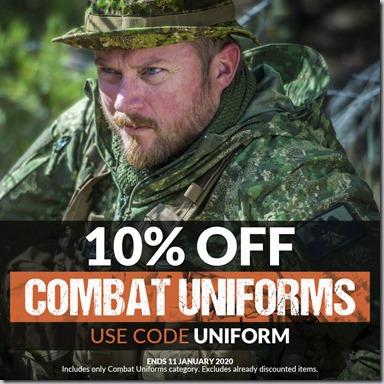 Combat Uniforms Sale 2020 Instagram