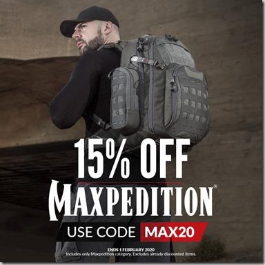 Maxpedition Sale 2020 Instagram