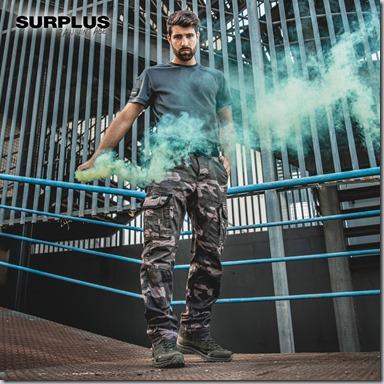 Surplus Premium Slimmy Trousers Black Camo insta