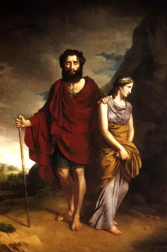 Édipo em Colono (Oedipus and Antigone by Antoni Stanislaw Brodowski (1784-1832)
