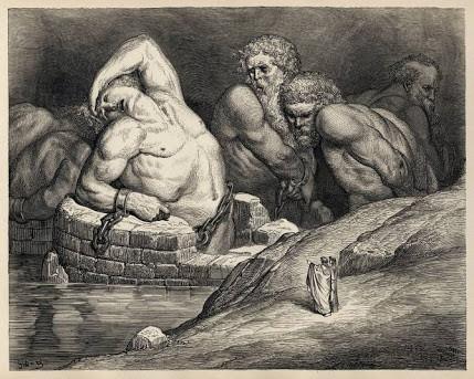 """O Gigante, de hoje, é o """"Zé Ninguém""""de que fala Wilhelm Reich (Gravura de Gustave Dore - Divina Comédia)"""