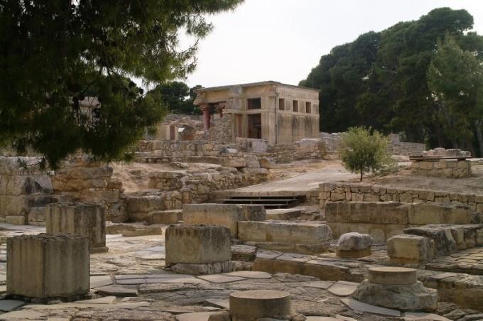 Ruínas do que seria o Labirinto de Creta(Grécia)