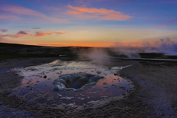 Heiße Quellen in Hveravellir - Island