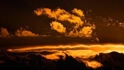 Sonnenuntergang bei Dietmansried - Allgäu, Deutschland