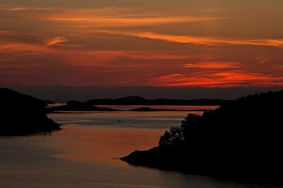 Sonnenuntergang bei Lysøysund - Sør-Trøndelag, Norwegen