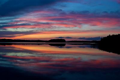 Sonnenuntergang bei Sankt Anna - Östergötland, Schweden