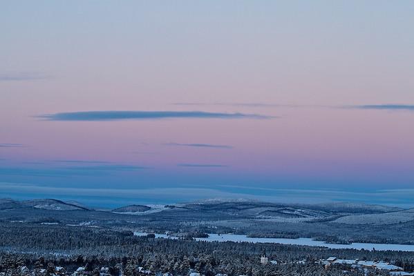 Nordblick - Blick vom Lillberget über Arvidsjaur - Norrbottens län, Schwede