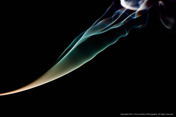 Experimenting with smoke and light 1