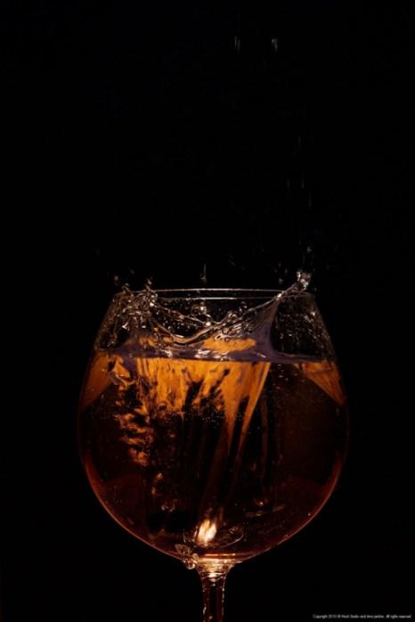 Splashing orange drink