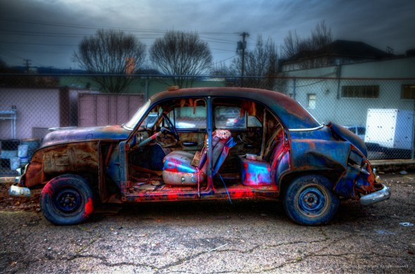 This old Chevy has seen better days