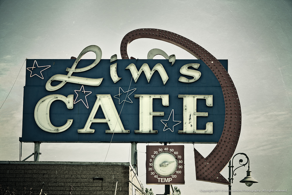 Lims Cafe Sign