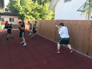 Boxfitness Trainings während den Sommerferien