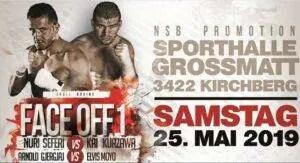 Fight #36 vom 25. Mai 2019 in Kirchberg BE: Arnold Gjergjaj vs Elvis Moyo