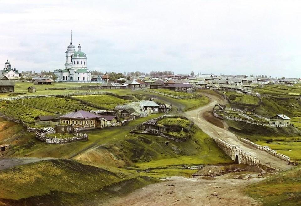 Miasteczko Kolchedan w pobliżu Jekaterynburga. Uwielbiam takie  krajobrazy!