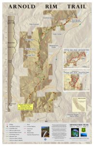 Arnold Hiking Rim Trail map