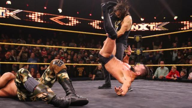 Finn Balor Pele kicks Adam Cole