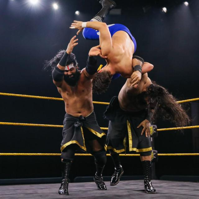 Rinku and Saurav double team Chase Parker
