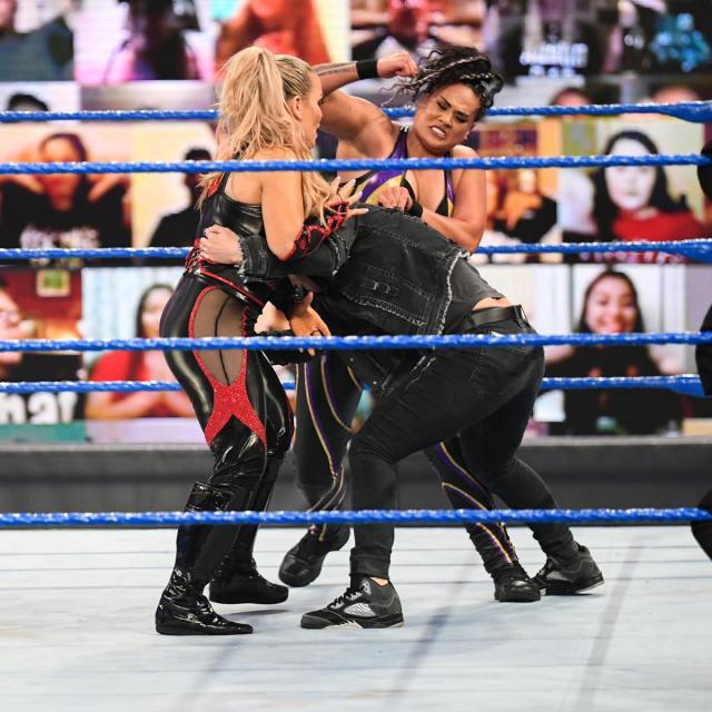 Natalya and Tamina double team Shayna Baszler