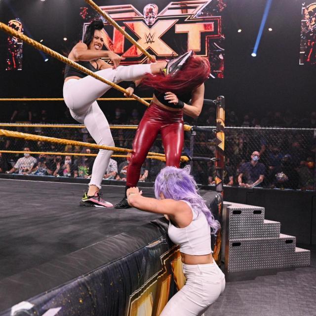 Indi Hartwell and Candice LeRae beat up Io Shirai