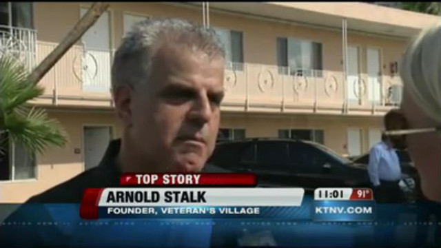 KTNV CHANNEL 13 ACTION NEWS - TOP STORY - Grand Opening and Ribbon Cutting Ceremony for Veteran's Village with Mayor Carolyn Goodman and American Restoration's Rick and Kelly Dale