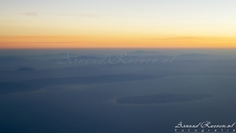 Sunrise above the Persian Gulf