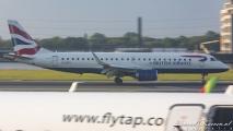 British Airways Embraer 190 (G-LCYK)