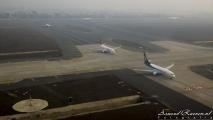 Landing in New Delhi