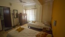 Mijn hotelkamer in de Blue Planet Lodge in Pokhara