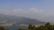 Panorama vanaf de World Peace Pagoda