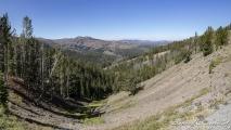 Uitzicht over Yellowstone nabij Dunraven Peak
