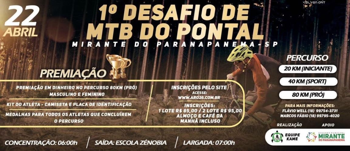 Banner Desafio MTB do Pontal