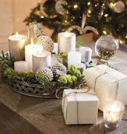 velas en Navidad