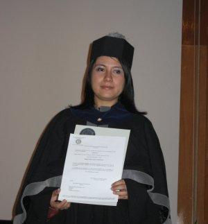 Magda (a.k.a Blissy) en su graduación