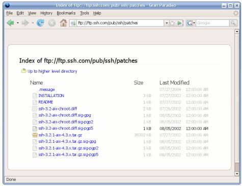 Firefox 3 Alpha 8 - Listado estilizado de archivos en FTP