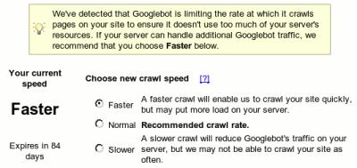 Frecuencia del Indexado de parte de Google