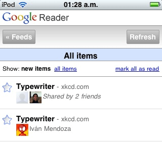 Compartidos en Google Reader
