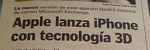 Prensa Libre - iPhone 3D