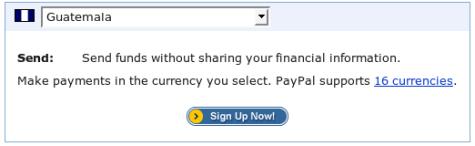Paypal ya acepta tarjetas de crédito de Guatemala