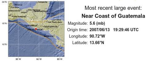 Temblor en Guatemala - 2007/06/13