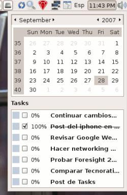 Ubuntu - Tasks: Integración al Calendario