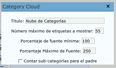 Wordpress.com Widget: Category Cloud